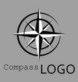 Black and white compass logo icon rose of