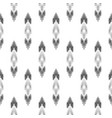 black and white ikat seamless pattern vector image vector image