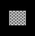 brick wall icon building and construction vector image