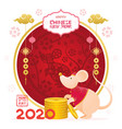chinese new year 2020 year rat cartoon vector image