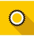 Cogwheel icon flat style vector image vector image