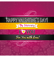 color background with valentine heart vector image vector image