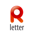 colorful abstract logo letter R vector image vector image