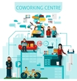 Coworking Centre Composition vector image vector image
