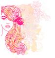 Creative fashion portrait vector image vector image