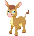 Cute Smiling Donkey vector image