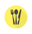 Cutlery icon with long shadow vector image vector image