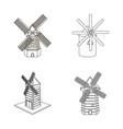 design of landscape and village symbol vector image