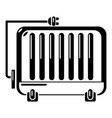 electric battery icon simple style vector image vector image