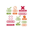 flat 8 bit icons collection of simple geometric vector image