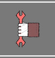 flat icon design collection wrench in hand in vector image vector image