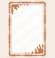 frame and border with brown volume levels for vector image vector image
