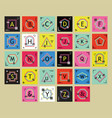 Geometricalline alphabetical letters labels set vector image