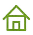 Green Four Leaf Clover of Home Icon vector image vector image