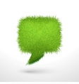 Green grass bubble isolated vector image vector image