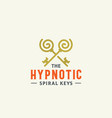 hypnotic spiral keys abstract sign symbol vector image vector image