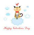 in love with cat vector image vector image