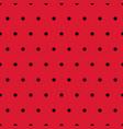ladybug black polka dots on red background vector image