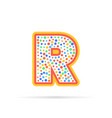 letter r with group of circles abstract logo icon vector image