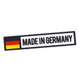 made in germany rubber stamp icon vector image vector image