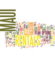 maui rentals text background word cloud concept vector image vector image