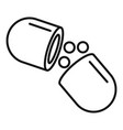 medical capsule icon outline style vector image vector image