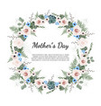 mother s day greeting card with flowers background vector image vector image