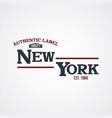 new york united states of america varsity vector image
