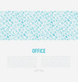 office concept with thin line icons vector image