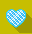 oktoberfest heart icon in flat style isolated on vector image