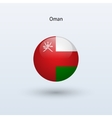 Oman round flag vector image