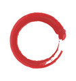 painted red circle on a white background vector image vector image