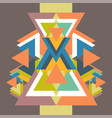 pattern with colorful geometric shapes triangles vector image