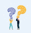 people with a question mark vector image vector image