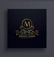 premium letter m logo concept design vector image vector image