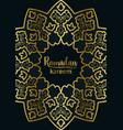 ramadan kareem golden and marble holiday template vector image