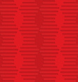 Red hexagonal waves on checkered background vector image vector image