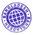 scratched textured bangladesh stamp seal vector image