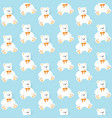 seamless pattern with bears on a blue background vector image