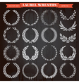 set laurel wreaths vector image vector image