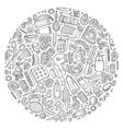 set of Hair salon cartoon doodle objects vector image vector image