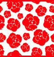sipmle red rose pattern vector image vector image