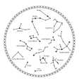 sky map with constellations vector image