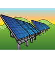 Solar Panels at Sunset Sky vector image vector image
