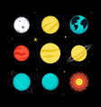solar system planets - colorful flat design style vector image