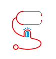 stethoscope with siren light icon vector image vector image