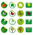 stickers and buttons vector image vector image