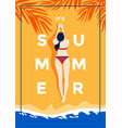 summer background flat design summer time 3 vector image vector image