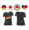 t-shirt with flag germany vector image