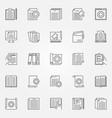 technical documentation outline concept vector image